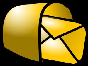 Mailbox geel
